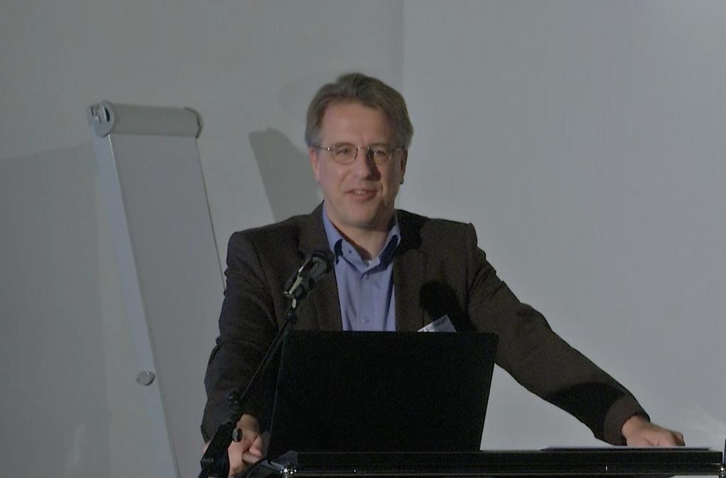 Andreas Körber bei der Keynote in Eichstätt
